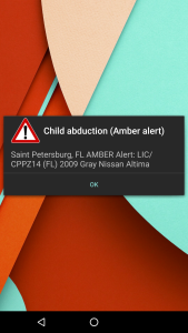 Amber Alert on cellphone