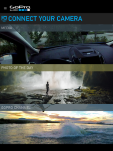 The Gopro app on Android