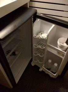 In room mini fridge